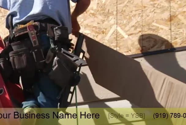 brand an awesome video for home improvement contractors