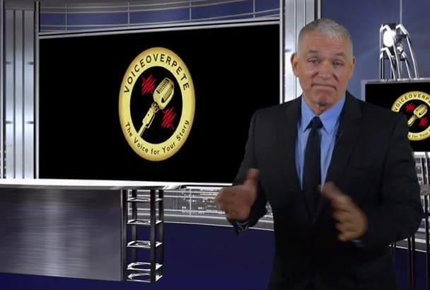 produce a Branded professional broadcast spokesperson video