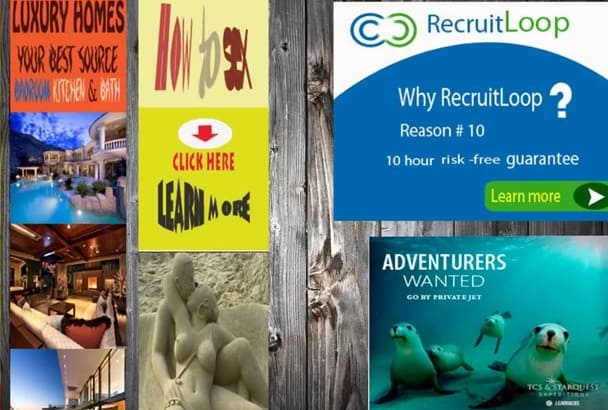 design an attractive Professional banner ad  eye catching