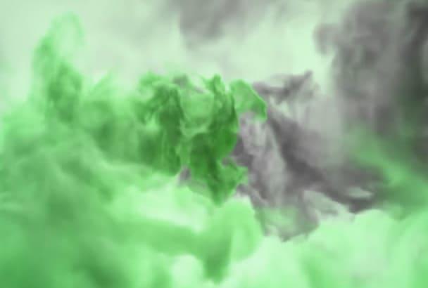 create Powerful Colorful Smoke intro