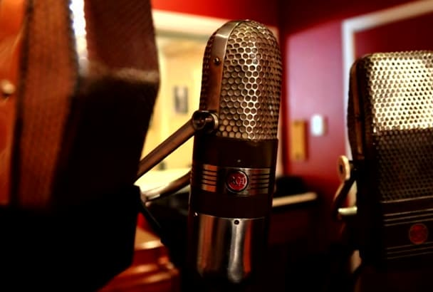 create a professional voice over