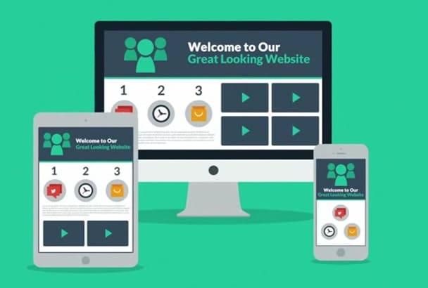 design responsive wordpress website and more