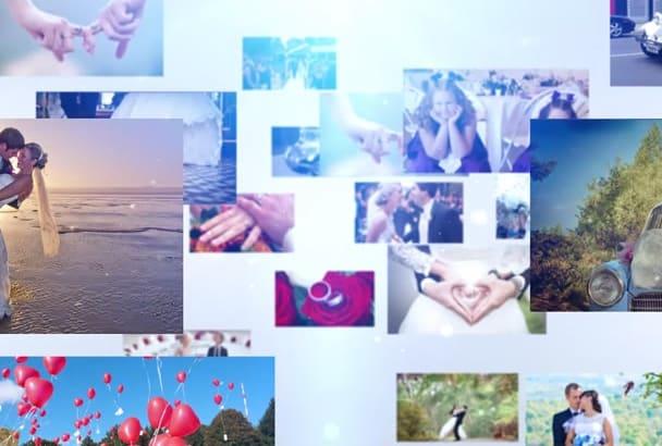 create Photographer Logo Intro Video with Slideshow Option
