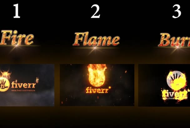 do this realistic fire intro with your logo or text