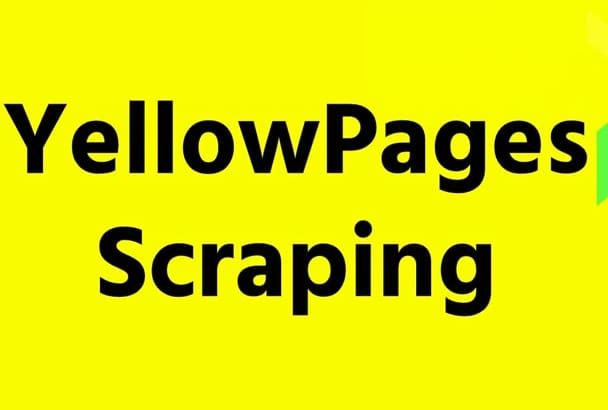 collect information from yellow pages or yell directories
