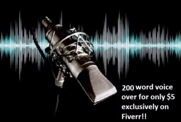 record a male voice over in 24hrs with a voice you can trust