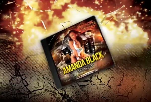 design cd, dvd, mixtape, Album cover, top label