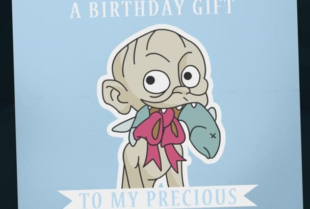 make a funny Happy Birthday video with Gollum