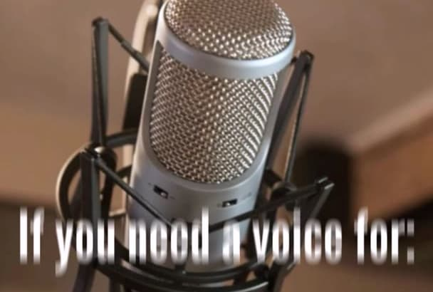 record a great Female VOICE over for you today