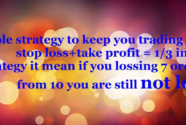 give you a real strategy to make your trading easy