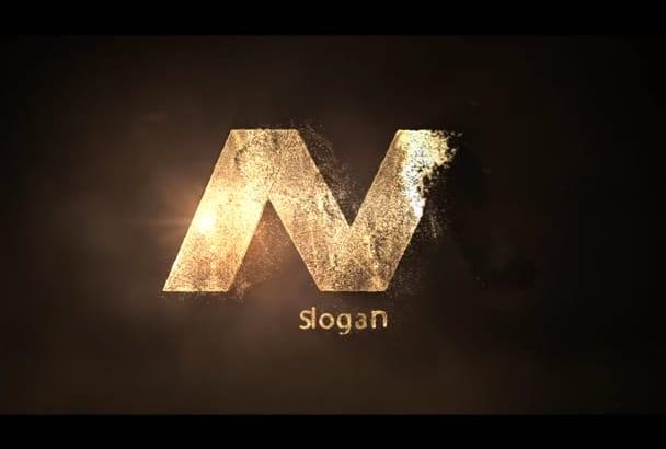 make this 3d gold logo intro animation