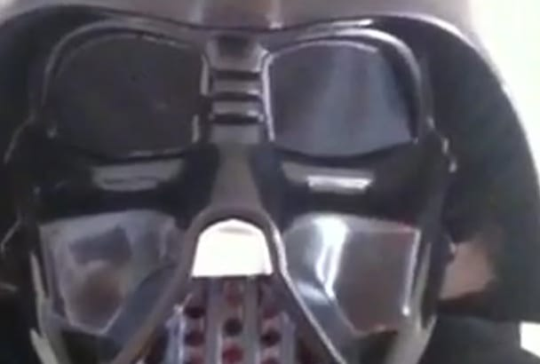 record a video short as darth vader from star wars