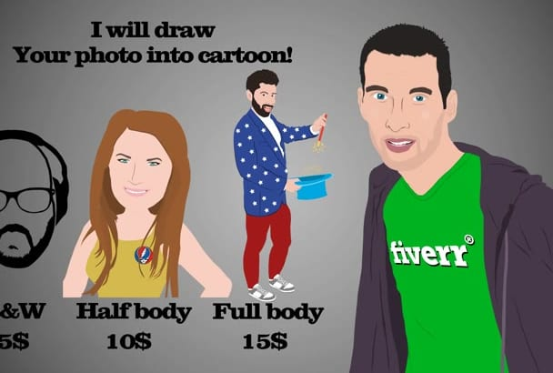 draw your photo into cartoon