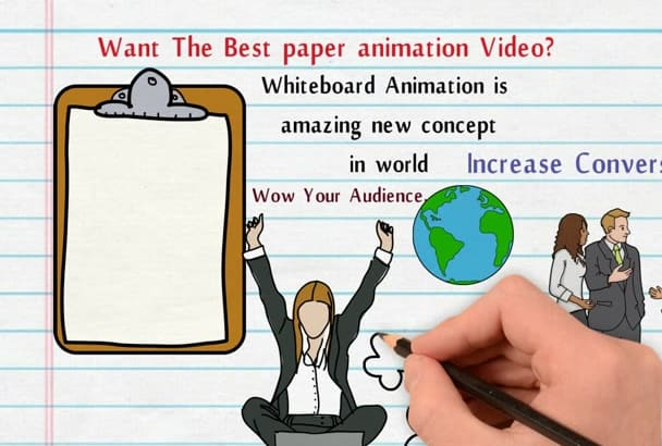 create white paper animation new concept for you