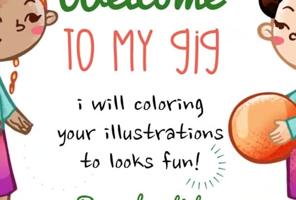 coloring your illustration to looks fun