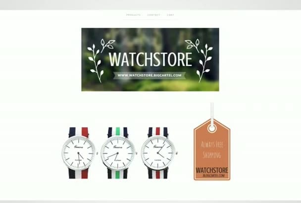 create a unique ECommerce, Webshop, Website with 24 hour
