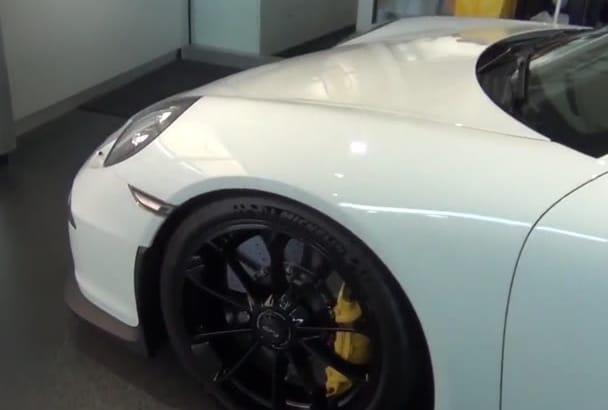 promote your Business on beautiful white Porshe video