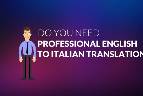 translate English to Italian your writte words or Wordpress Theme and Plugins
