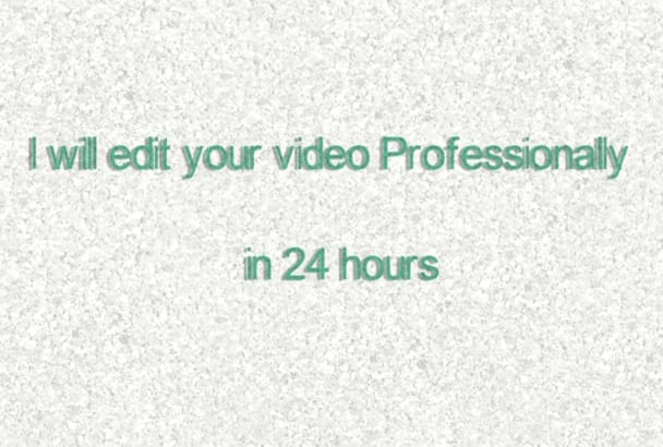 do professional video editing service
