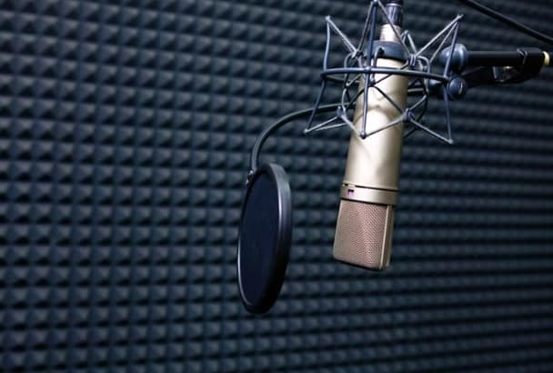 record a professional voiceover for you TODAY