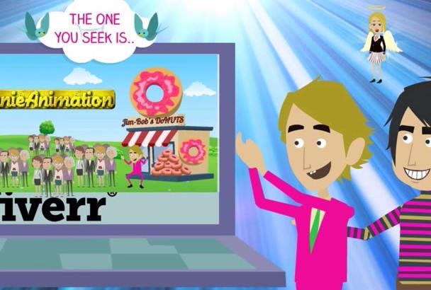 create a CHEEKY Custom 2D Animation Explainer Video