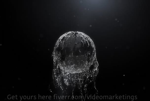 make your logo intro with water effect