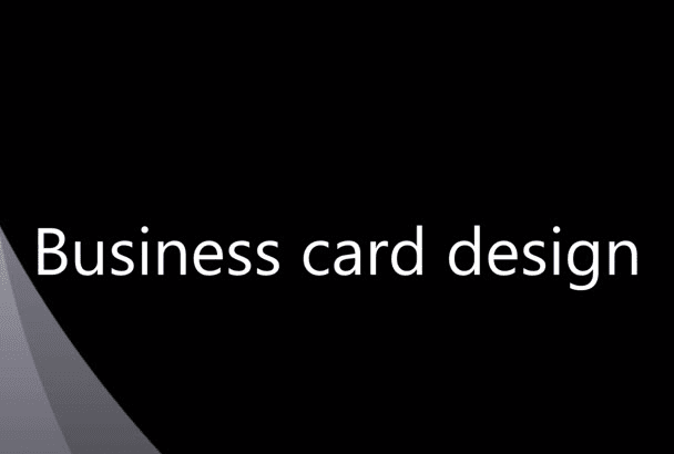 create an attractive business card and stationary design