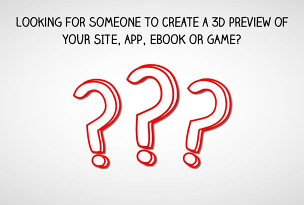 create an awesome 3d preview for your site, app, ebook or game