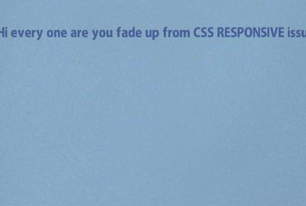 fix Responsive Web Design Bugs