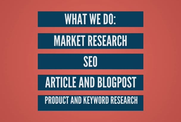 carry out an INDEPTH Web research and market research