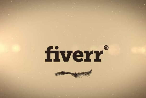 create this Sand forming Animated Logo Video Intro