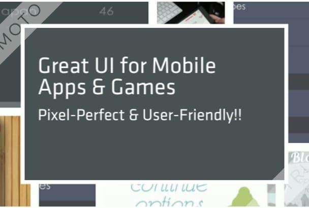 design great mobile app UIs