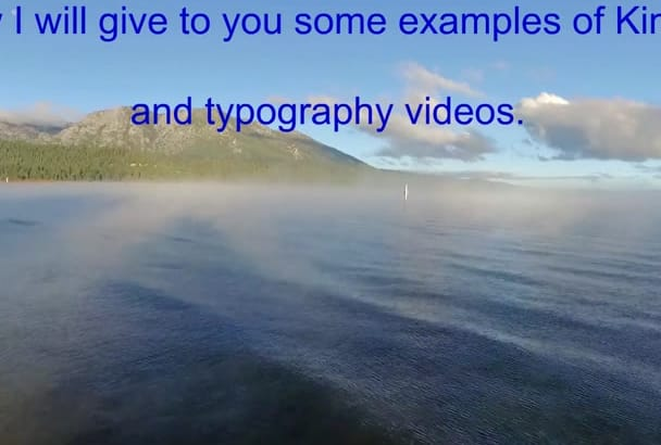 enchant you with a great typography kinetic video