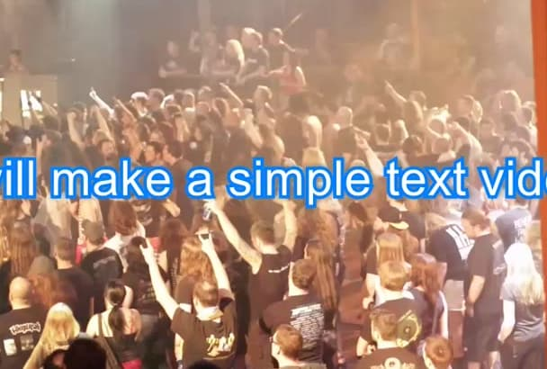 create a simple text video