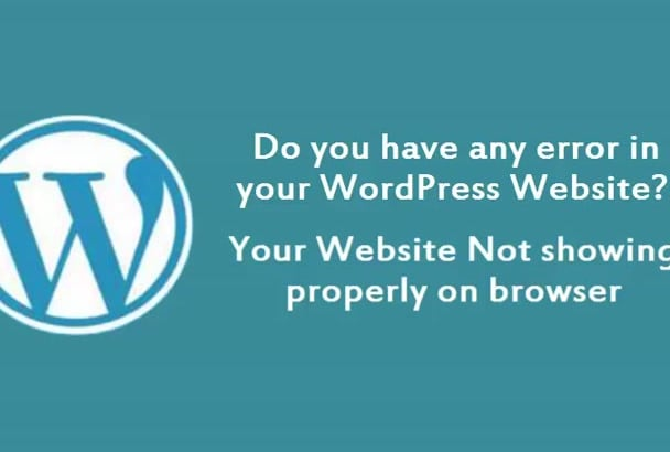 fix WordPress error or  issue in 24 hours