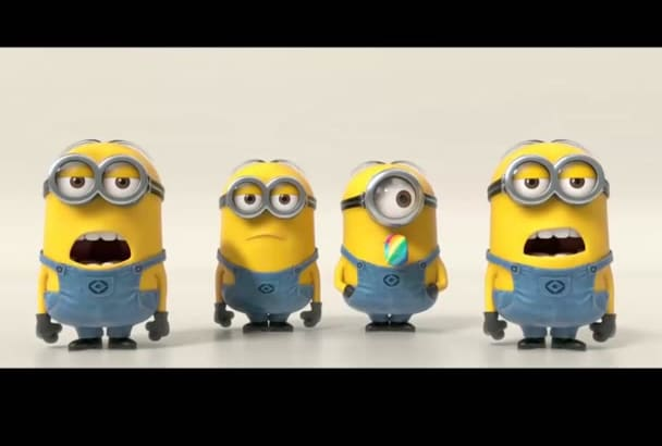 make this minions sing for your logo or message