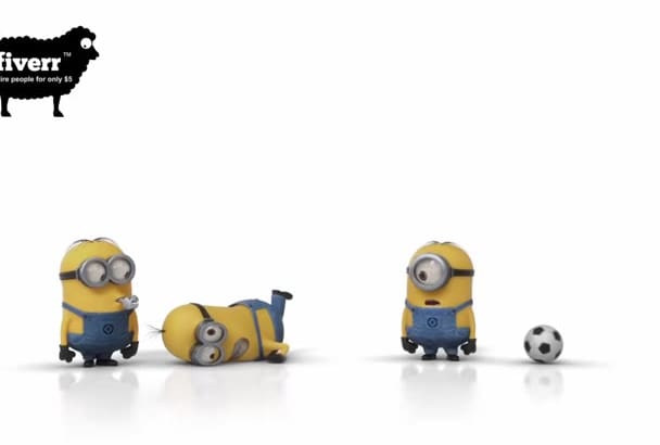 make minions soccer funny video with your logo or message