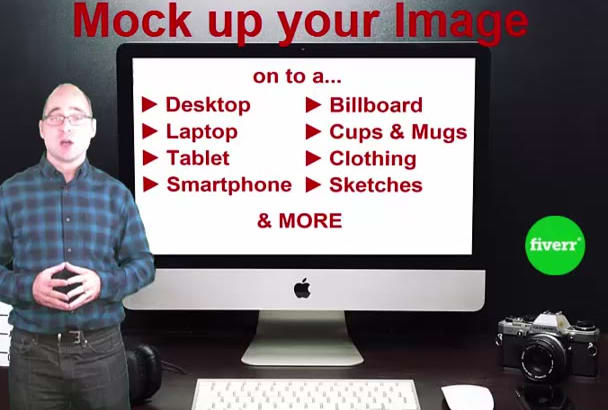 mock Up your Logo Image onto a Laptop, Phone or Other item