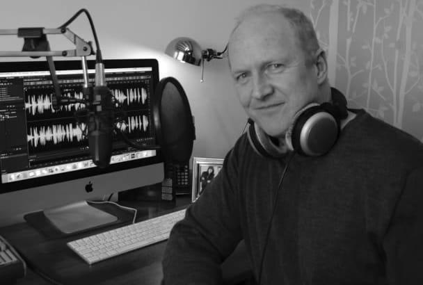 record a professional, British male voice over