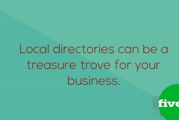 do 20 local SEO citations for uk  Business