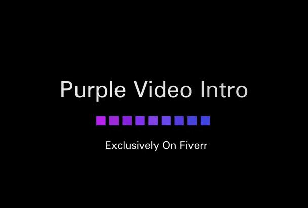 create a Dark Purple video intro