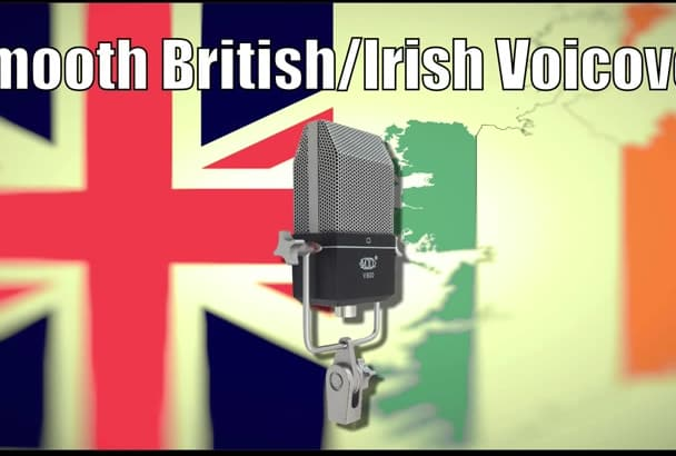 record a 150 word  smooth British Irish male voice over