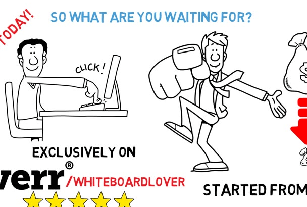 create an PROFESSIONAL Whiteboard video in 48 hrs