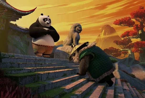 make a video with Kung Fu Panda with your logo