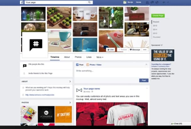 create a Facebook cover photo for your business