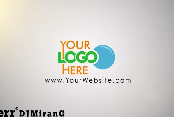create a animated intro with your company logo and info