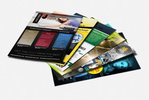 design an event flyer or a business brochure