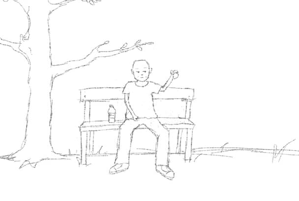 make a 10 seconds of digital sketch animation