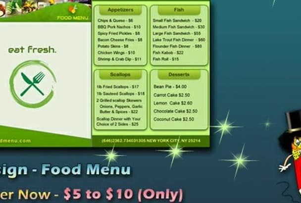 do food menu for you
