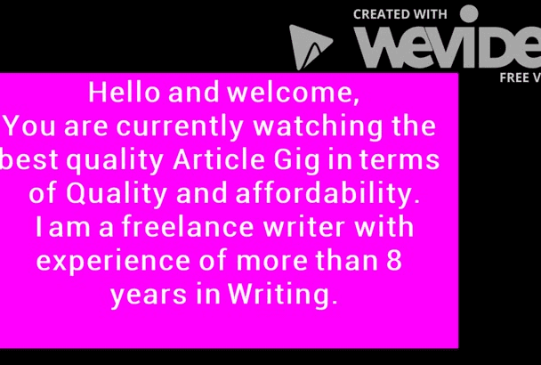write Original content and Articles for you
